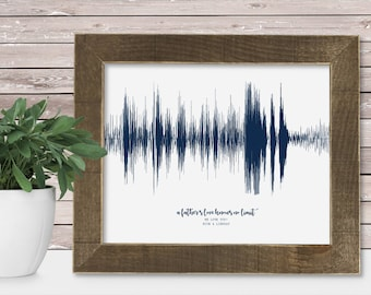 Father Daughter Gift Daughter to Father Gift for Dad Long Distance Dad Gift from Daughter Dad Birthday Sound Wave Dad Daughter Print Art