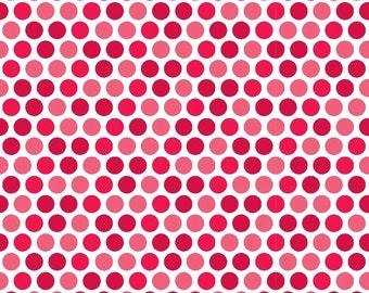 Red Santa Dots from Riley Blake's Santa Express Collection