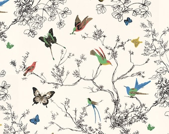 As Seen In HGTV Jan/Feb Issue / Wallpaper / Birds and Butterflies Wallpaper By Schumacher  Sold By The Double Roll
