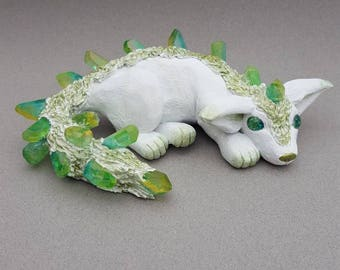 Polymer Clay Tourmaline Star Wars Vulptex Crystal Fox Pup Alien Creature Art