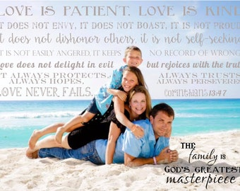 Family Photo Art, Personalized Canvas, Family Picture, Personalized Art, Family Portrait, Custom Family Canvas, Custom Canvas, Gallery Wall