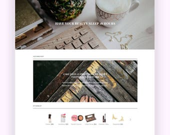 Responsive Premade Blogger Theme - Minimalist Theme Leilani