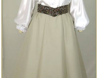 Taupe Victorian Skirt