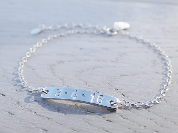 Personalised Silver Bracelet, Sterling Silver