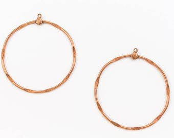 45mm Copper Circle Ear Hoop #EFC015