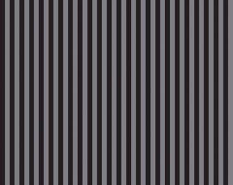 Dot & Dash Gray and Black Stripe by Riley Blake - C6173 GRAY
