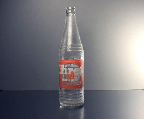 Soda Bottle, Hires Root Beer, 12 Ounce, Pryo-Glazed