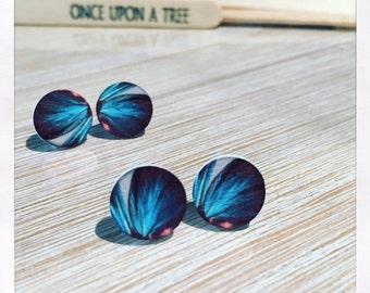 Laser Cut Wooden Feather Earrings