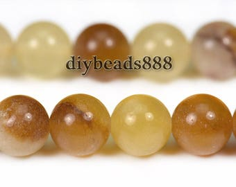Spring Jade smooth round beads,Natural,Gemstone,Multicolor,One strand,15 inches,6mm 8mm 10mm for choose