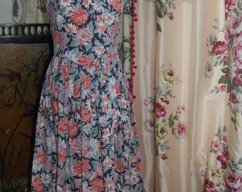 Vintage Laura Ashley floral dress 10