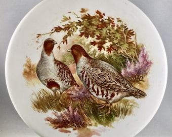 """6"""" Round  Vintage Hyalyn Partridge Bird Tile"""