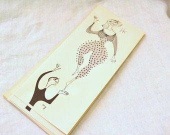 1950s NOS Acrobats Anniversary Card with Envelope