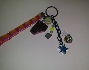 Sweet chocolate Keychain in polymer clay and resin.