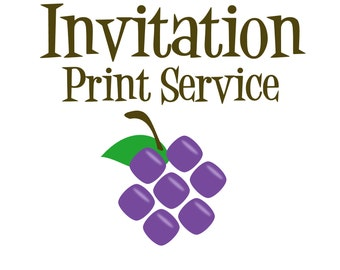 Invitation Print Service - 5x7 Cardstock Print with White Envelopes - Any of my Personalized Party Invite Designs - A7 Invitation Card