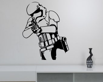 Stormtrooper Vinyl Decal Star Wars Wall Sticker Soldier Art Decorations for Home Housewares  Living Room Bedroom Dorm Movie Decor sws5