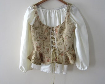 Vintage Costume Top with Corset - Adjustable Size -M-XL