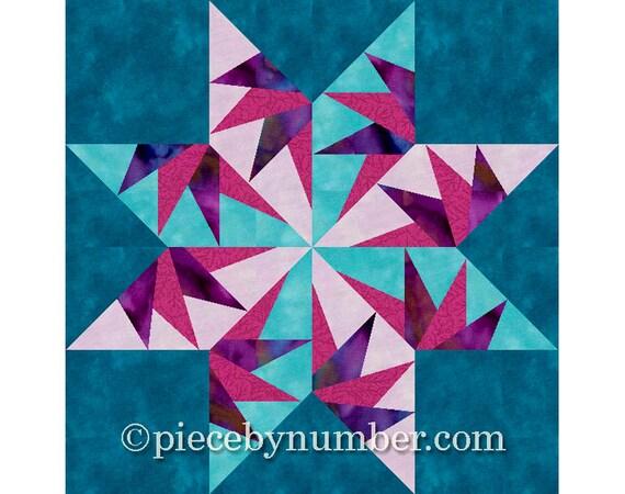 Falcons Star Quilt Block Pattern Paper Piecing Quilt
