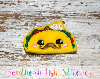 Mr Taco Feltie Embroidery Digital Download