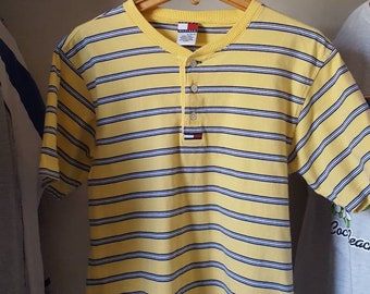 Vintage Yellow Striped Tommy Hilfger T-Shirt