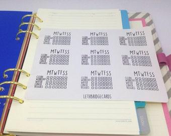 Custom Daily Checklist Stickers; Planner Stickers; Filofaxing;Erin Condren; Kikki K; Custom Stickers; Habit tracker; Bullet Journal Stickers