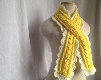 Crochet pattern - September scarf, crochet scarf pattern, cancer ribbon scarf pattern, adult scarf pattern, child crochet scarf pattern