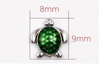 Sea Turtle Floating Locket Charm Living Memory Lockets Jewelry Making Supplies - 62a