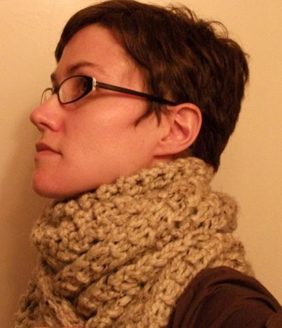 KNITTING PATTERN // PDF instant download // Super bulky yarn scarf // Oats and Honey