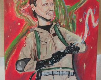 Ghostbusters Painting on Canvas - Peter Venkman - Bill Murray - Slimer