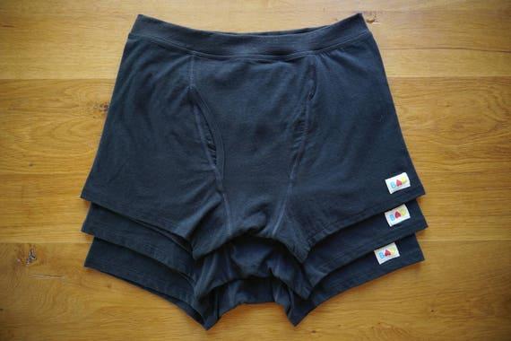 3x Black Organic Cotton & Hemp Boxer Briefs Men's Underwear TKT6zpd1E
