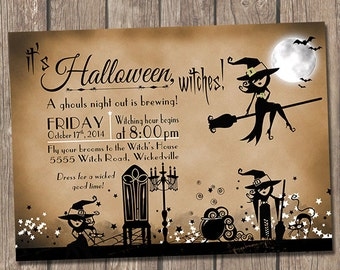Vintage Witch Girls/Ghouls Night Out Invitation