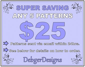 SUPER économie - 5 motif tutoriels pour 25 Dollars