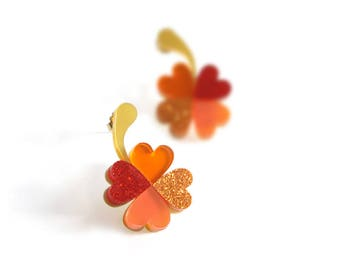 Four-Leaf Clover Earrings. Love Talismans Collection.