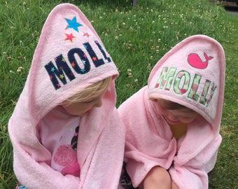 Totstowel Basics - Personalised hooded towel for babies (75 x 75cm)