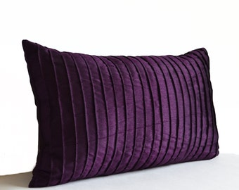 Purple Pillow Covers, Purple Decorative Pillow, Dark Purple Throw Pillow Case, All Sizes Housewarming Gift, Couch Cushion, Mother's Day Gift