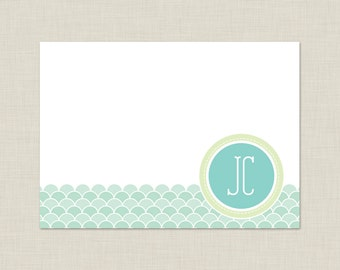 Personalized Stationery Set / Personalized Stationary Set / Calm Waves Note Cards
