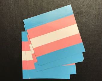 "Trans Pride Flag Vinyl Sticker (set of 5 stickers) 2""x2"""