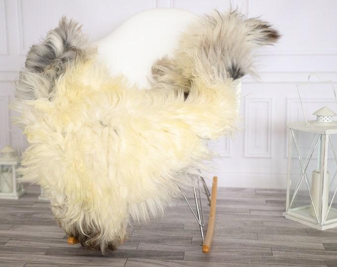 Sheepskin Rug   Real Sheepskin Rug   Shaggy Rug   Chair Cover   Sheepskin Throw   Beige Gray Sheepskin   Home Decor   #Apriher47