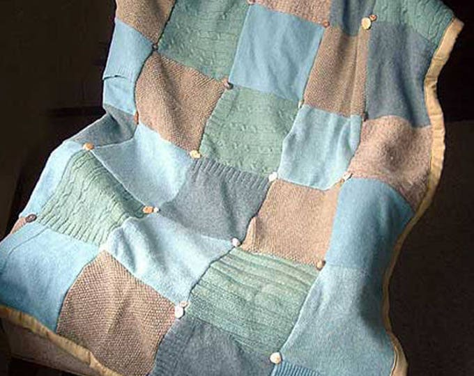 "My ""Cape Cod"" Wool Sweater Quilt — I can make one similar for you!"