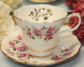 "Royal Albert Bone China Teacup and Saucer Set.  ""Mother""  2 Sets Available."