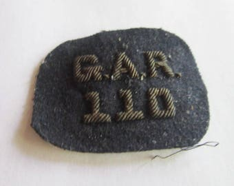19th C Antique Civil War Gar 110 Hat Device Patch Wow