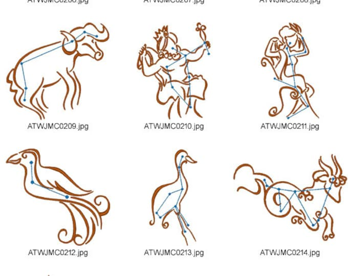 Constellations-3-JMC Embroidery Designs ( 10 Machine Embroidery Designs from ATW )