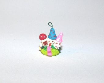 Whimsical fairy village Hand sculpted terrarium garden Lovely MiniatureTroll,Hobbit ,Fantasy gnome, elf, fairy house for miniature garden