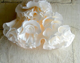 SALE 20% off. Paper Light, Paper Sculpture, Handmade Paper Lamp, Desk Paper Lamp, Art Light Decoration, Home Decoration, home interior