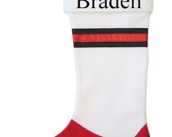 SOCCER  themed stockings with FREE  embroidered names