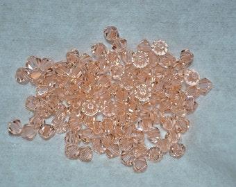24 - 4mm Genuine Swarovski Crystal Beads - Lt. Peach