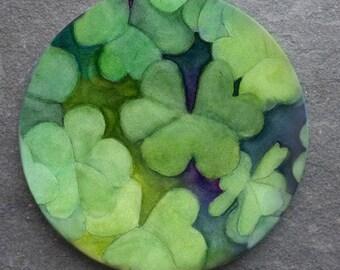 Shamrock Clover Sandstone Coaster St. Patrick's Day