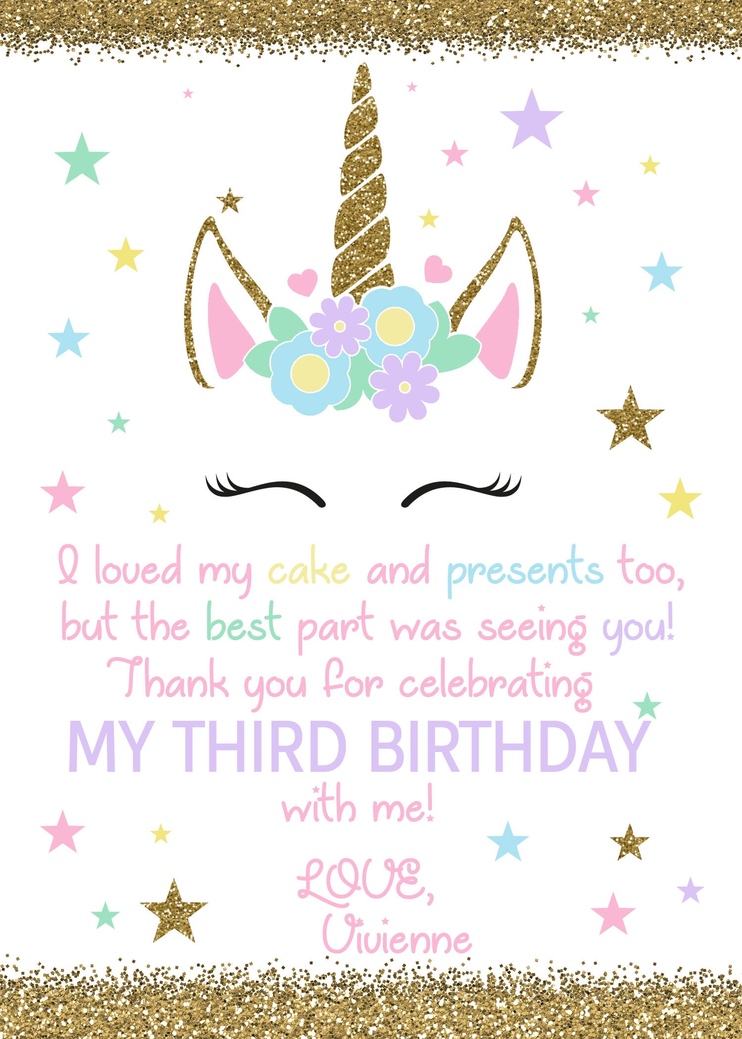 Unicorn birthday thank you unicorn birthday thank you card unicorn birthday thank you unicorn birthday thank you card unicorn invitation magical unicorn thank you magical unicorndigital file stopboris Choice Image