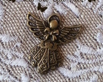 Bronze Angel charm