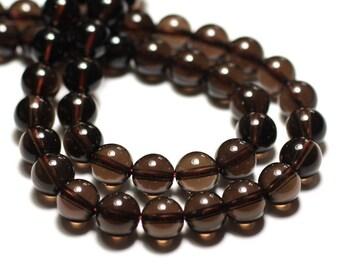 Stone beads - smoky Quartz balls 6mm - 10pc 4558550035127 bag