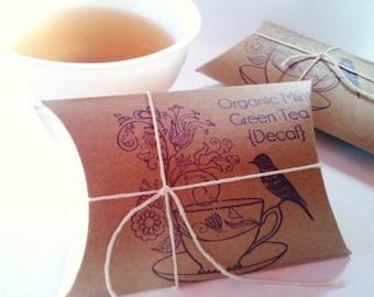 Tea Wedding Gifts. Bridal Shower Favors // tea party favors // Set of 20 w/ Custom Stamp.